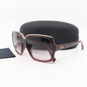 V604S 224 Valentino Burgundy Gradient Sunglasses